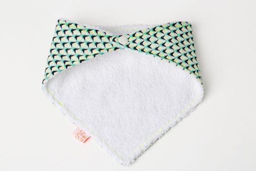 Blanc-Fluo-Bavoir-bandana-Pineapple2